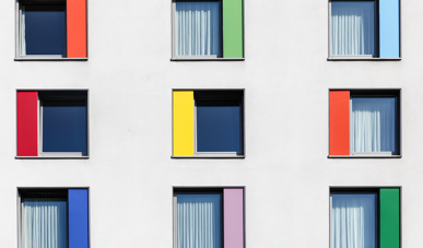 Lots of differently coloured windows representing choice