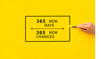 365 new days 365 new chances sales poster