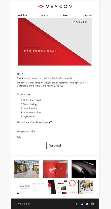 Email marketing example Veycom